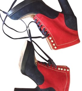 Bally Boot blue and red Boots