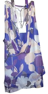 Diane von Furstenberg Top Paper forest purple