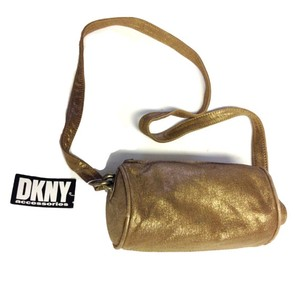 DKNY Donna Karan Tube Gold Vintag Shoulder Bag