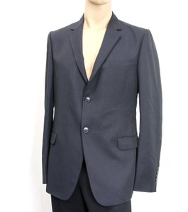 Gucci Navy Men's Wool/Mohair Coat Jacket Blazer Eu 52/ Us 42 295389 Groomsman Gift
