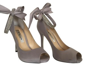 Nina Shoes Wedding Prom grey silver Formal
