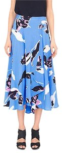 Yumi Kim Swingy Midi Skirt Blue, Black Multi