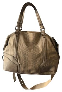 Rachel Roy Snakeskin Satchel in Gray