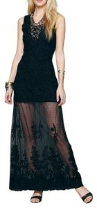 Free People Lace Embroidered Maxi Dress