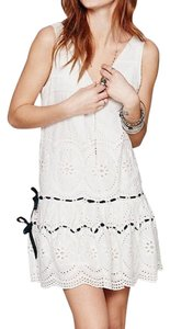 Free People short dress White Eyelet Swing Bohemian Effortless Midi on Tradesy
