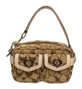Coach Legacy Turnlock Cosmetic Pouch Baguette