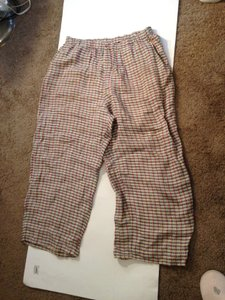 FLAX Linen Fit Size 10 Relaxed Pants Multicolor