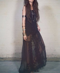 Free People Lace Maxi Gown Dress