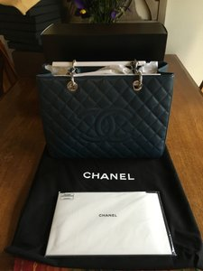 Chanel Caviar Tote in Blue, corn flower blue/grey blue/navy blue