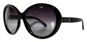 Dolce&Gabbana NEW DG 4103 501/8G Black Oversized Round Sunglasses. FREE 3 DAY SHIPPING