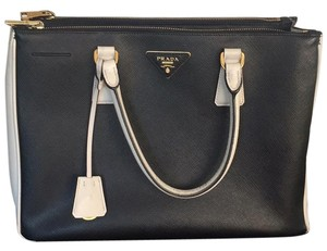 Prada Satchel in Black/ White