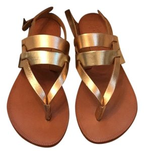Joie Silver and Gold Sandals