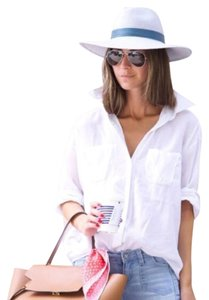 Elizabeth and James Button Down Shirt Ivory