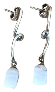 Tiffany & Co. Blue Lace Agate Dangle Drop Earrings