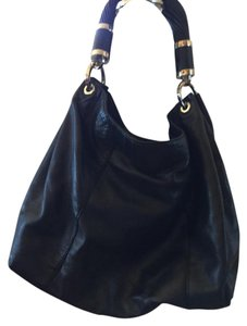 Michael Kors Collection Leather Tote in Black