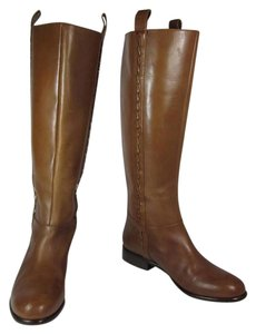 Elie Tahari Brown Leather Tall Riding Equestrian Boots