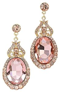 MEME Chic Elegant Rose Gold Rhinestone Crystal Teardrop Dangle Earrings