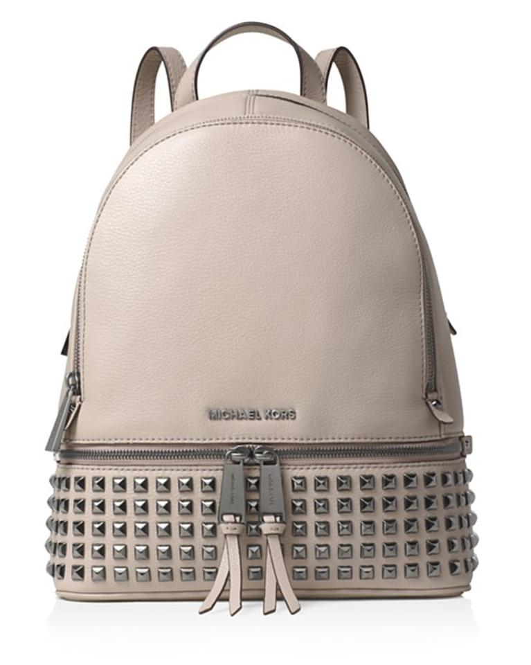 michael kors rhea medium pyramid stud backpack backpacks. Black Bedroom Furniture Sets. Home Design Ideas