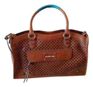 Gianni Bini Satchel in Brown and turquoise