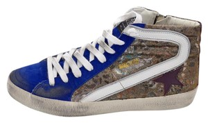 Golden Goose Deluxe Brand Leather Vintage Blue Size 40 Athletic