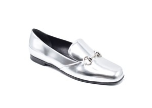 Gucci Metalic Leather Vintage silver Flats