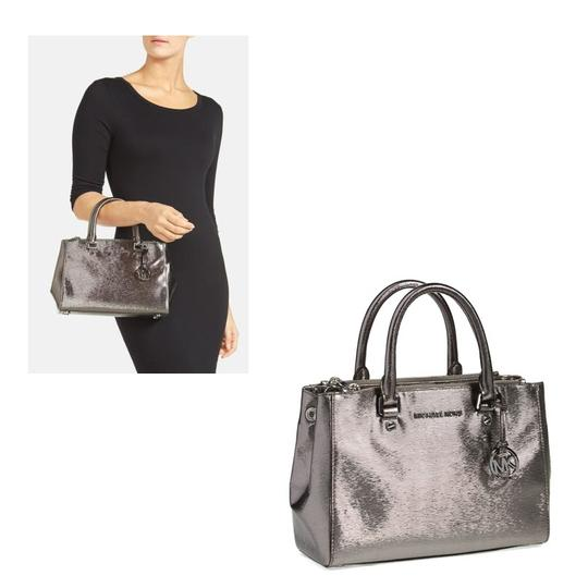 Preload https://img-static.tradesy.com/item/2005597/michael-michael-kors-small-sutton-metallic-silver-leather-satchel-0-1-540-540.jpg