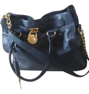 Michael Kors Hamilton Large North South Tote in Navy Blue