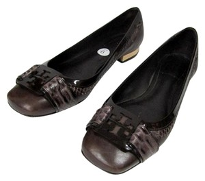 Tory Burch Ballet Ballerina Coconut Leather Leather Brown Flats