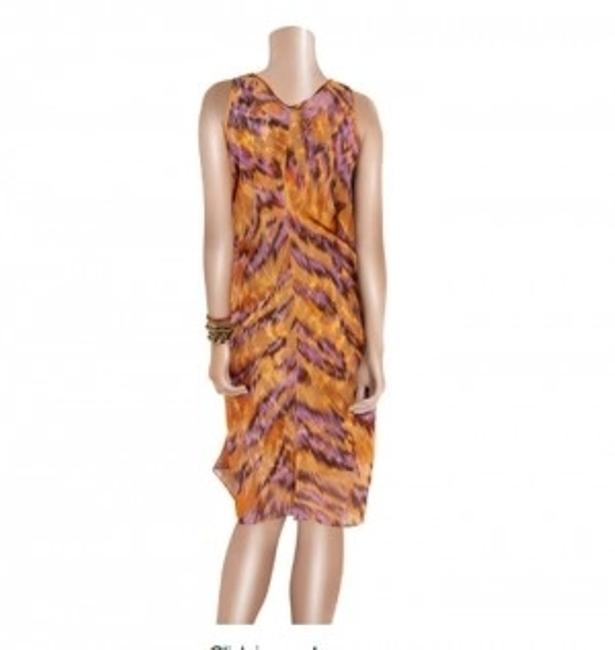 Diane von Furstenberg Dvf Animal Print Silk Chiffon Dress