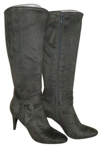 Other Rich Knee-hi Zipper Side Great Condition Contempory Design Gray Boots