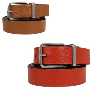 Lether Coach Men's Signature Reversible All in one Size Carmine/Saddle Belt