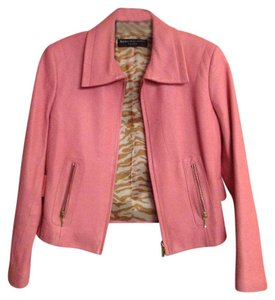Dana Buchman Leather Pink Leather Jacket