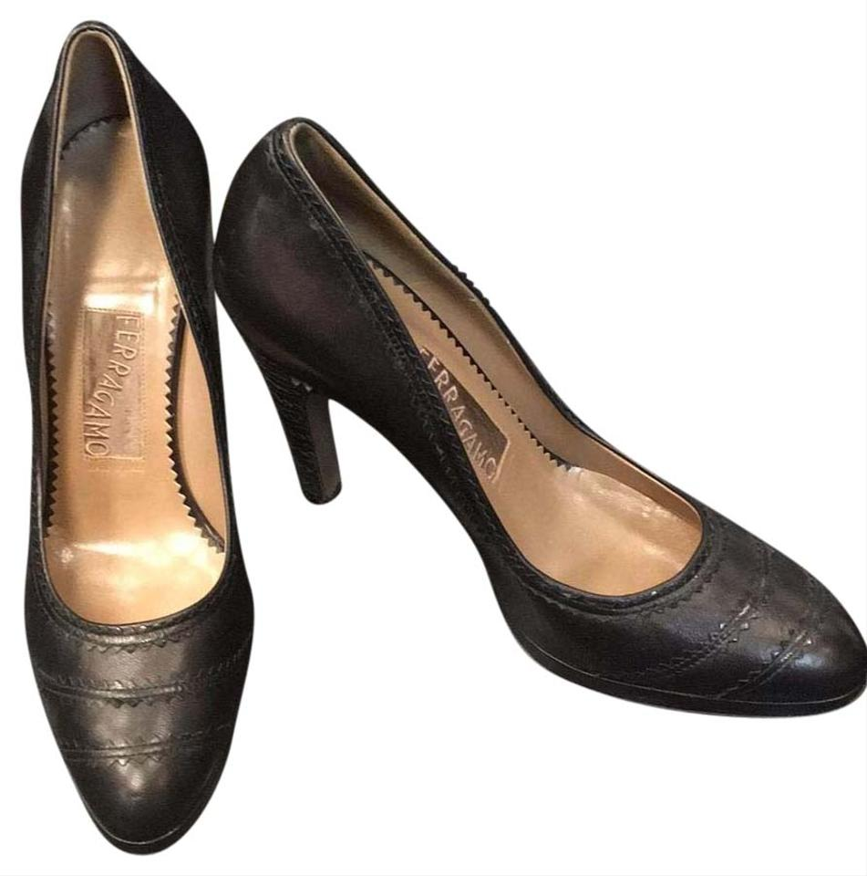 salvatore ferragamo black pumps on sale 76 off pumps on sale. Black Bedroom Furniture Sets. Home Design Ideas