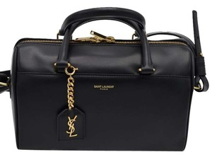 Saint Laurent Yves Mini Duffle Handle Tote in BLACK