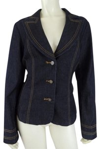 Bisou Bisou Denim Stretch Lightweight Blue Jean Blazer