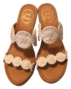 Jack Rogers White Wedges