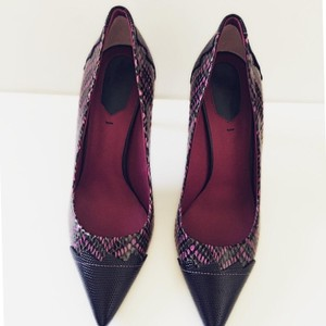 Fendi Python Leather Multicolor Pumps