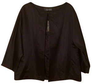 Ellen Tracy Silk Satin Evening Black Jacket