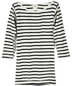 Edith A Miller T Shirt Striped Navy