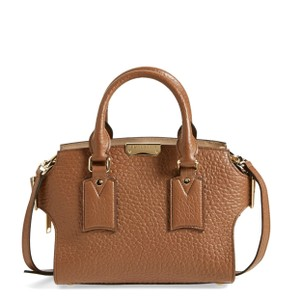 Burberry New Clifton Check Satchel in Brown