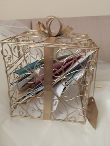 Gold Wedding Card Cage