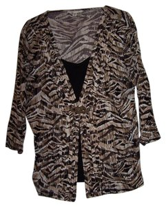 M COLLERTION Top BROWN/BLK/WHITE
