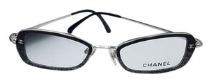 Chanel Vintage Black and Grey Square Chanel Sunglasses 2158 c.428 48