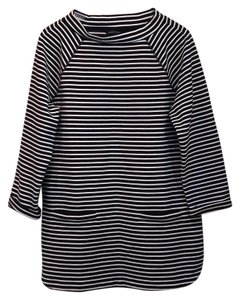 Lands' End 3/4 Sleeve Textured Ponte Striped Tunic