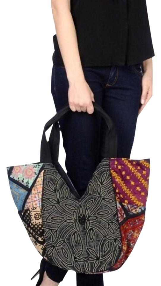 ee22dbb960 Antik Batik Aden Cabas Carryall French Classic Paris Chic Beaded Oversized  Durable Tote in Black Image ...