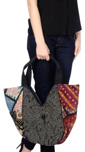 Antik Batik Aden Cabas Carryall French Classic Paris Chic Beaded Oversized Durable Tote in Black
