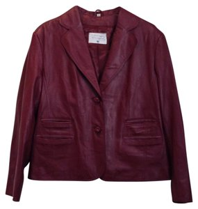 Pamela McCoy Cranberry Leather Jacket