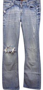 BKE Distressed Boot Cut Jeans-Light Wash