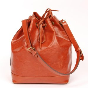 Louis Vuitton Noe Leather Epi Leather Tote in Brown