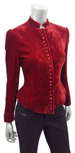 J. Peterman Fall Winter Velvet Edwardian Burgundy Blazer